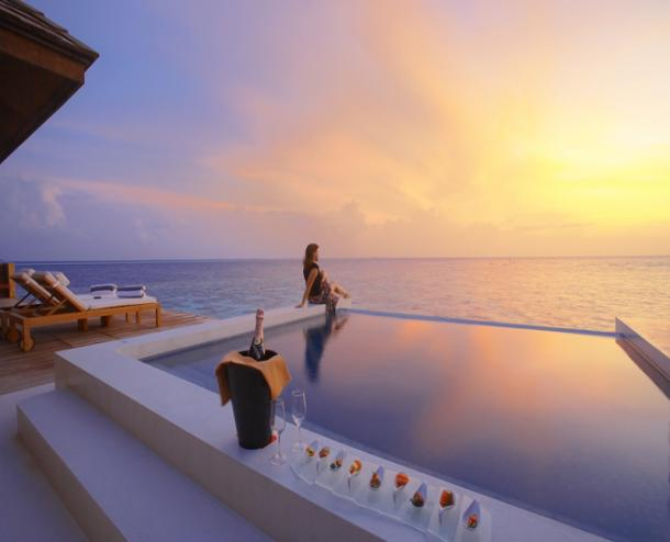 Lily Beach Resort Maldives Sunset Water Suite
