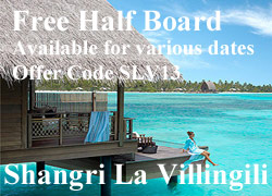 Shangri la Villingili Maldives special offer